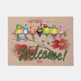 Welcome Parrots Doormat