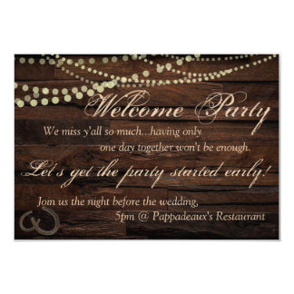 Welcome Party Invitation