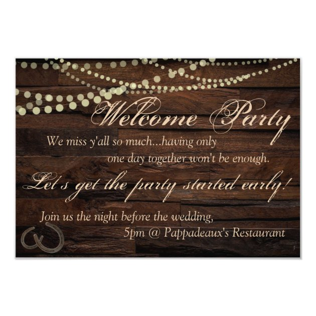 Welcome Party Invitation Zazzle Com