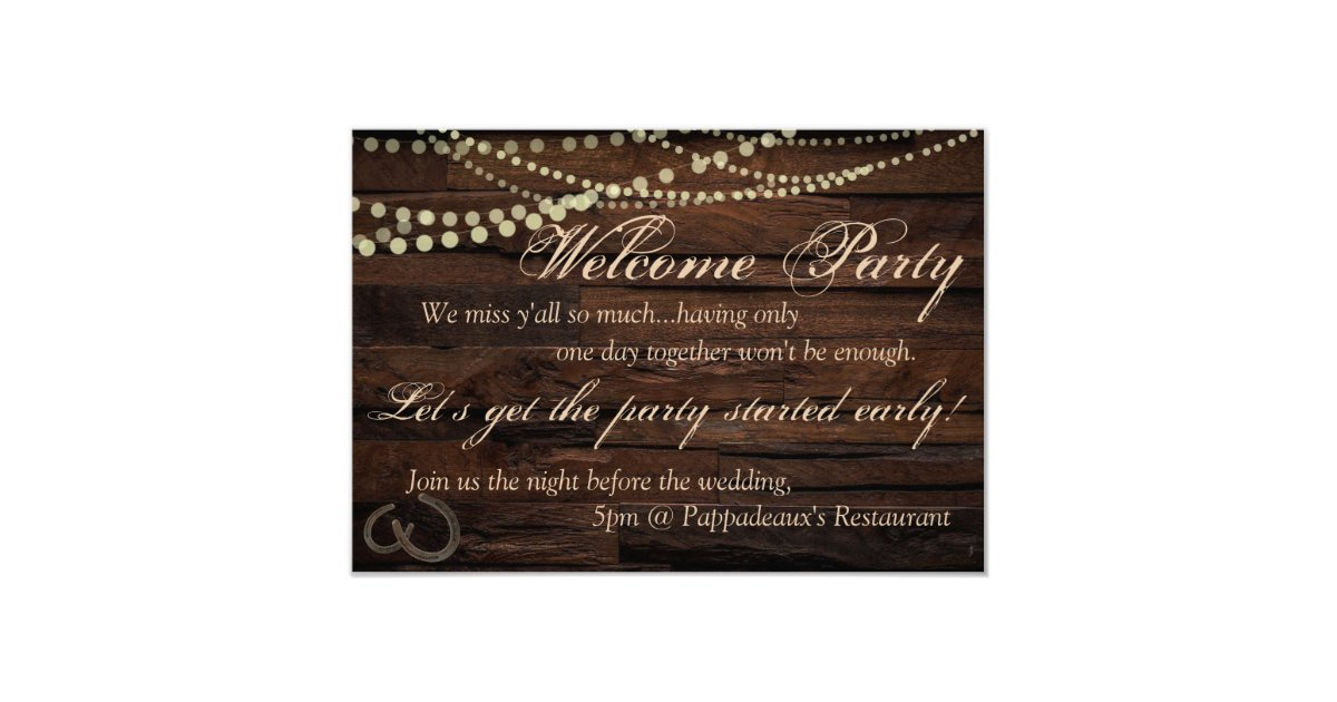 Wedding Welcome Party Invitations & Announcements | Zazzle
