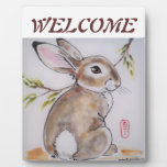 Welcome Placque Bunny Rabbit, perfect hostess gift Display Plaque