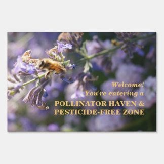 Welcome!  Pollinator Haven & Pesticide-Free Zone Yard Sign