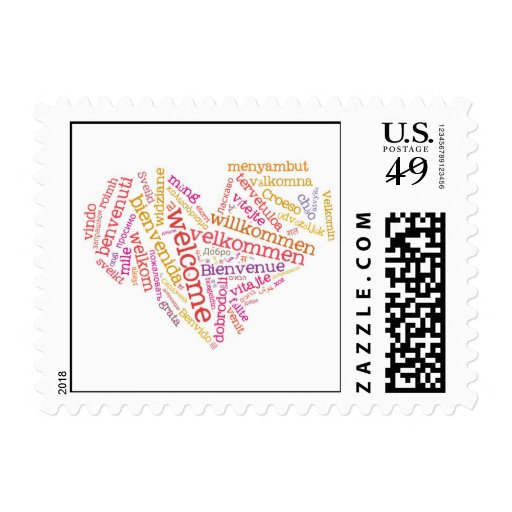 Welcome Postage Stamp