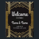 "Welcome Poster Gatsby Art Deco Gold Wedding Poster<br><div class=""desc"">Gatsby Art Deco Welcome Poster - perfect for your wedding day or event. Matches our collection.</div>"