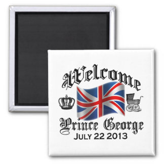 Welcome Prince George July 22 2 Inch Square Magnet