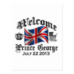 Welcome Prince George July 22 Post Card