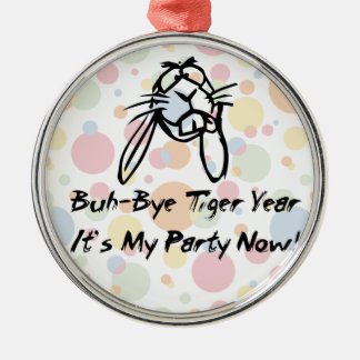 Welcome Rabbit Year Round Metal Christmas Ornament