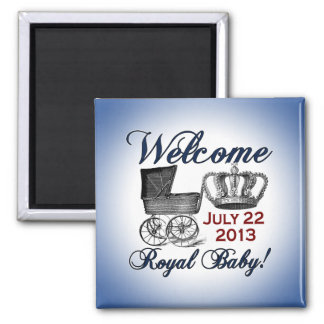 Welcome Royal Baby 2 Inch Square Magnet