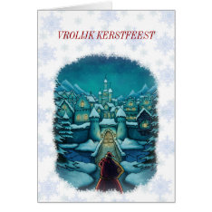 Welcome Santa Claus Christmas Card Netherlands at Zazzle