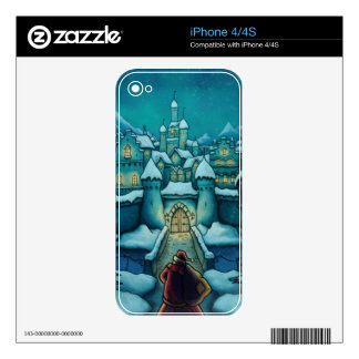 welcome santa holiday iPhone skin iPhone 4 Decal
