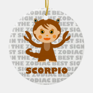 Welcome ScorpioZodiac Baby! Double-Sided Ceramic Round Christmas Ornament