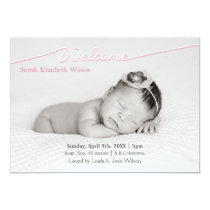 Welcome Script Mod Baby Girl Arrival Announcement