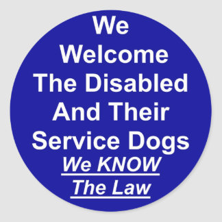 Welcome Service Dog Sticker