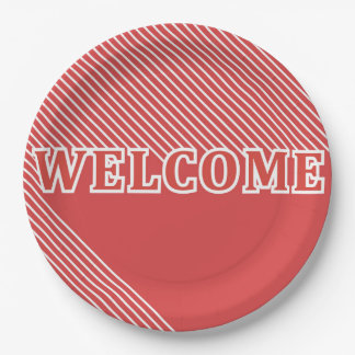 Welcome 9 Inch Paper Plate