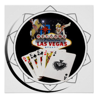 Welcome Sign Black Poker Chip