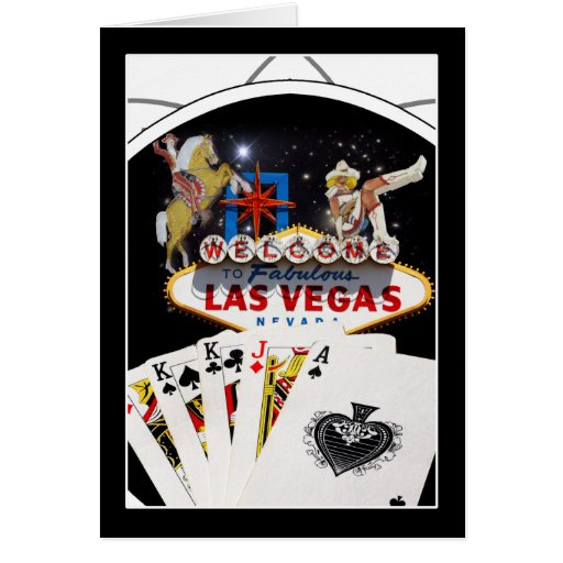 Welcome Sign Black Poker Chip Cards