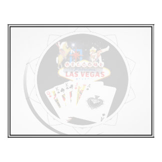 Welcome Sign Black Poker Chip Flyer