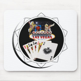 Welcome Sign Black Poker Chip Mouse Pad