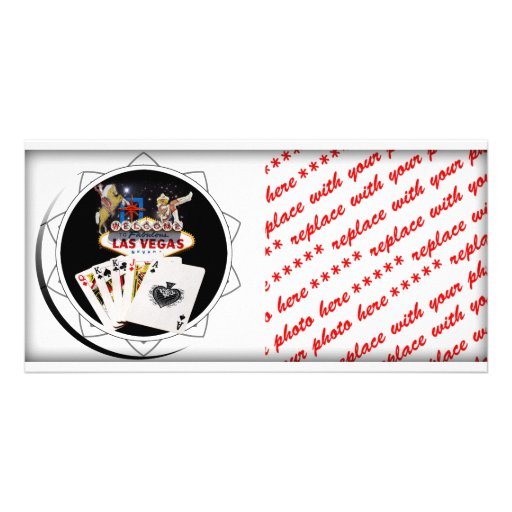 Welcome Sign Black Poker Chip Photo Cards