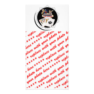 Welcome Sign Black Poker Chip Custom Photo Card