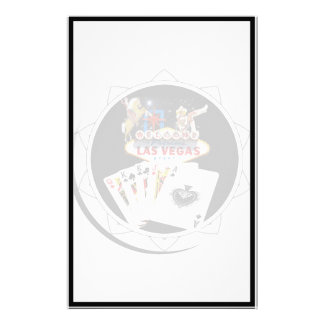 Welcome Sign Black Poker Chip Stationery