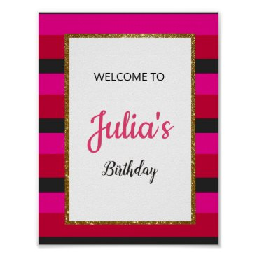 Art Themed Welcome Sign Board for Birthday/Bridal Shower