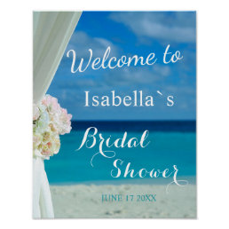 Welcome Sign | Ocean Beach Summer Bridal Shower
