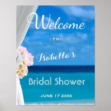 Beach Themed Welcome Sign | Ocean Beach Summer Bridal Shower