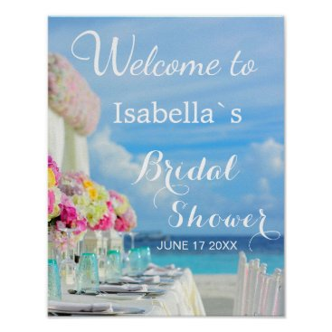 Beach Themed Welcome Sign | Ocean Beach Summer Bridal Shower