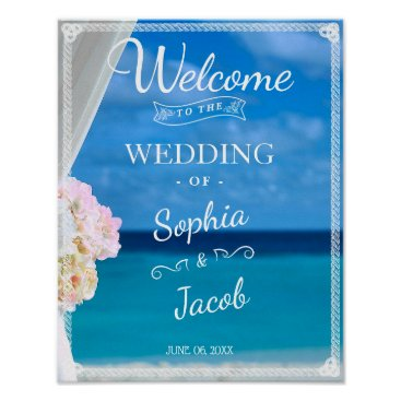 Beach Themed Welcome Sign | Ocean Beach Summer Wedding