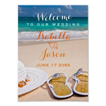 Beach Themed Welcome Sign | Ocean Beach Summer Wedding
