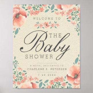 WELCOME SIGN | Vintage Floral Storybook Baby