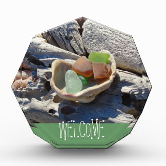 Welcome signs Wall plaques Counter Beach Coast Acrylic Award