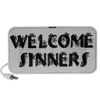 Welcome Sinners! iPod Speakers