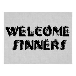 Welcome Sinners! Poster