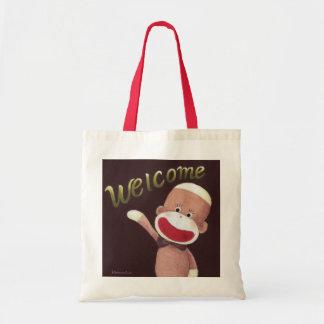 Welcome Sock Monkey Bag