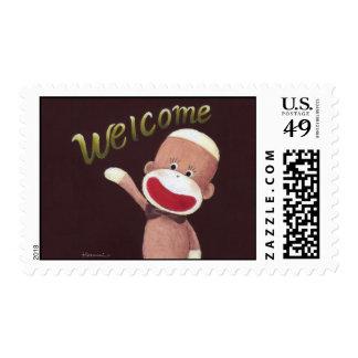 Welcome Sock Monkey Postage
