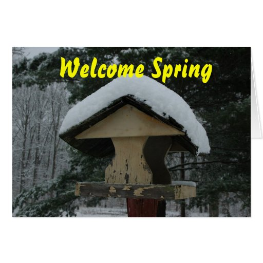 Welcome Sping Card