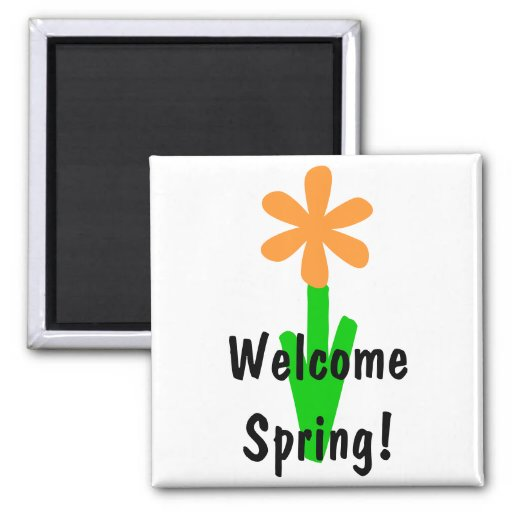 Welcome Spring! 2 Inch Square Magnet