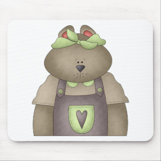 Welcome Spring · Bear in Purple Overall Mouse Pad