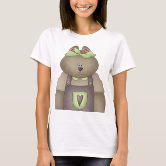 Welcome Spring · Bear in Purple Overall T-Shirt