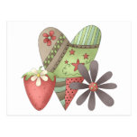 Welcome Spring · Heart, Strawberry & Flower Post Cards