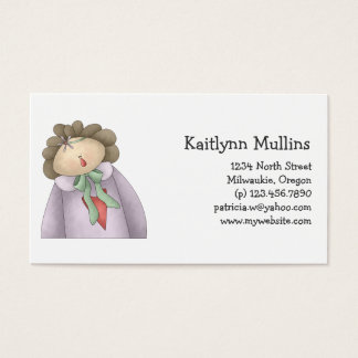Welcome Spring · Mauve & Taupe Annie Business Card