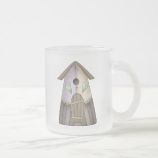 Welcome Spring · Purple Birdhouse Coffee Mug