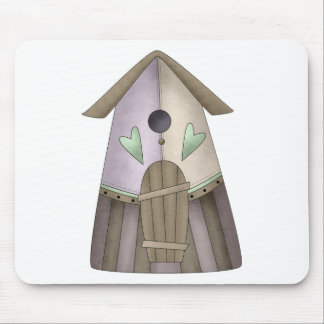 Welcome Spring · Purple Birdhouse Mouse Pad