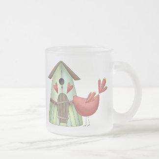 Welcome Spring · Red Bird & Birdhouse Coffee Mug