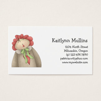 Welcome Spring · Red & Taupe Annie Business Card