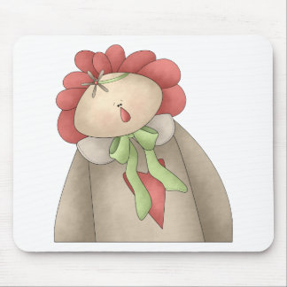 Welcome Spring · Red & Taupe Annie Mouse Pad
