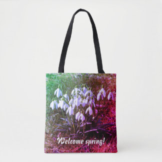 Welcome spring! Snowdrops 02.2.T.F Tote Bag