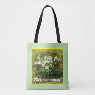 Welcome spring! Snowdrops 02.2.T Tote Bag